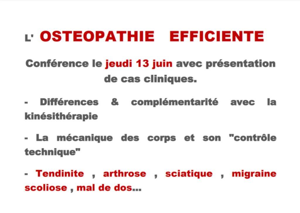 Ostéopathie efficiente - conférence